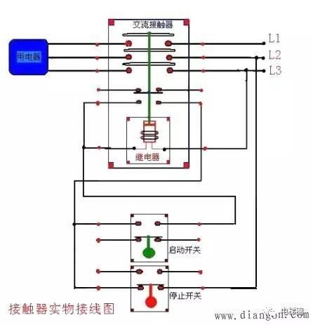 380V 220V交流接触器接线详细图解